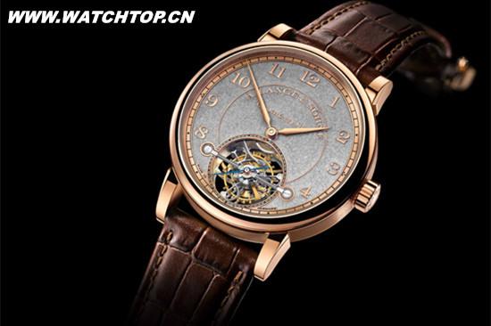 朗格表推出全新1815 Tourbillon陀飞轮停秒装置腕表