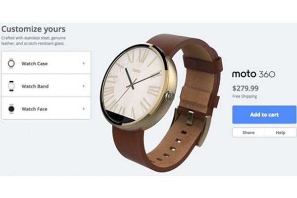 摩托罗拉智能手表Moto 360也可以定制了