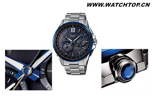 卡西欧OCEANUS系列新款手表采用京瓷再结晶蓝宝石