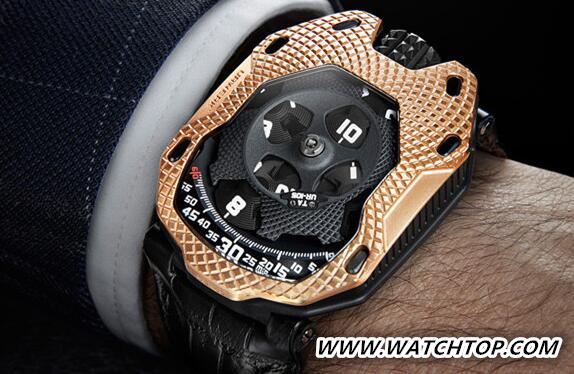 URWERK名表品牌推出全新UR-105 Raging Gold腕表