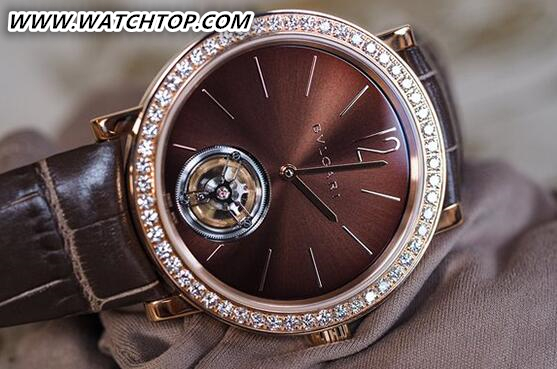 宝格丽首款女士超薄陀飞轮腕表