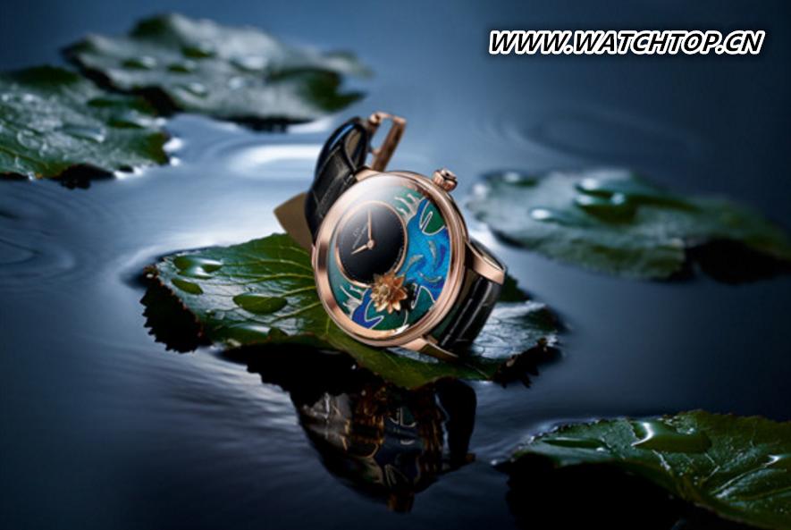 雅克德罗推出两款全新微绘锦鲤时分小针盘腕表