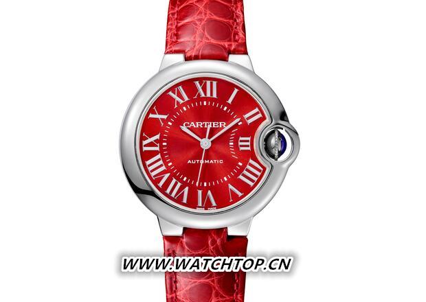 卡地亚推出以中国独家上市的限量版蓝气球红色腕表