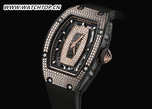 情趣优雅:RICHARD MILLE RM07-01黑色纳米陶瓷镶钻腕表 新表预览 第1张