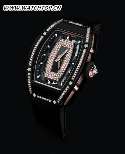 情趣优雅:RICHARD MILLE RM07-01黑色纳米陶瓷镶钻腕表 新表预览 第2张
