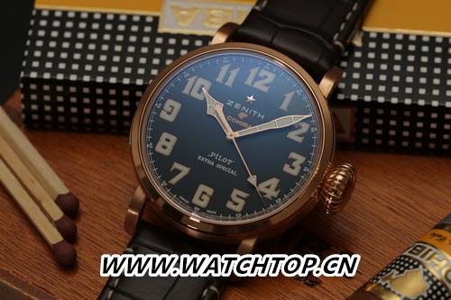 真力时携手Cohiba重磅推出Pilot Type 20特别款腕表